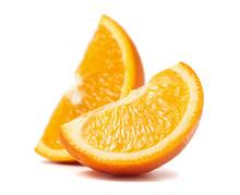 Fresh Cut Orange Fruits Macro ...