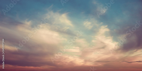 Fototapety, obrazy: Sky and clouds atmosphere background