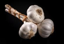 Unpeeled Garlic In A Bunch On ...