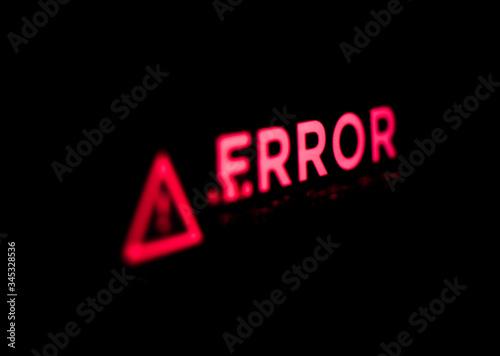 Computer error.