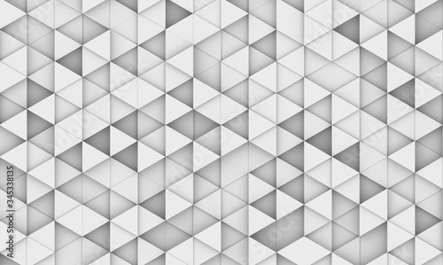 White background with triangles. 3d image, 3D rendering illustration