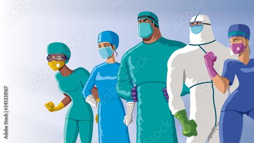 Fotografie, Obraz Doctors Heroes Team Dawn
