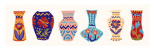Set Of Various Vases With A Pa...
