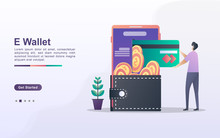 E-Wallet Concept. People Save ...