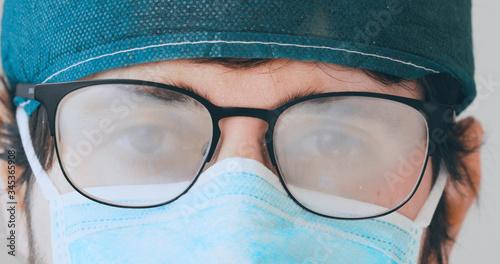 Mascherina occhiali appannati Slika na platnu