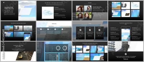 Presentation design vector templates, multipurpose template for presentation slide, flyer, brochure cover design, infographic report Slika na platnu