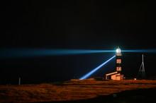 Lighthouse At Tohoku At Night