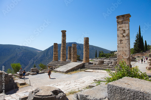 Archaeological site of Delphi - Temple of apollo Canvas Print
