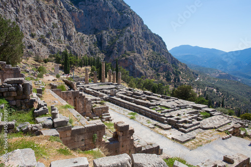 Archaeological site of Delphi - Temple of apollo Wallpaper Mural