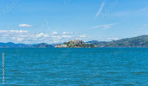 Fototapeta Alcatraz Prison Island in San Francisco Bay, offshore from San Francisco, Califo