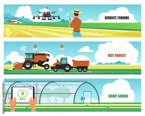 Agricultural banners Wallpaper Mural