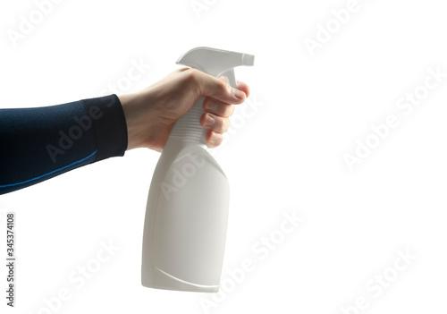 antiseptic in pump aerosol dispenser sprayer Canvas Print
