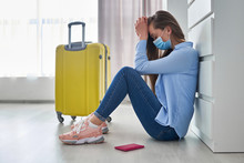 Frustrated Woman Traveler In P...