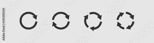 Cuadros en Lienzo Set of circular arrows icons.