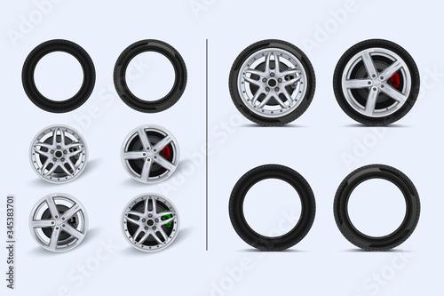 Photo Car wheels set