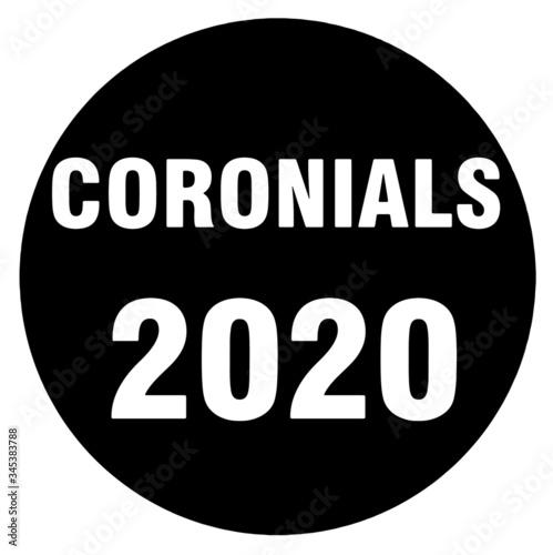 Coronials 2020 Multipurpose Graphic Illustration Tablou Canvas
