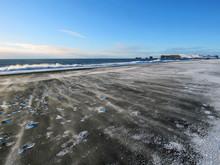 Black Sand Beach Landscape Sce...