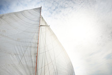 White Sails Of A Sloop Rigged ...