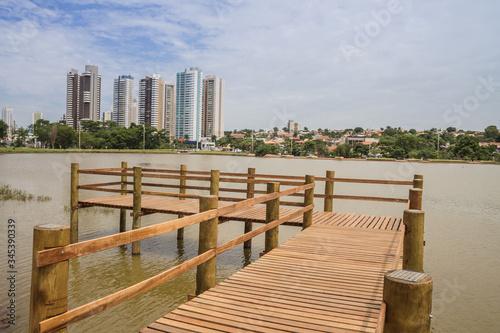 Nature in a big  city - Parque das Nações Indígenas - Campo Grande - Mato Grosso Canvas Print