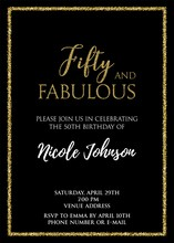 Fifty And Fabulous. Birthday P...