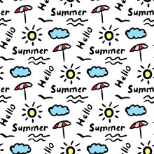 Summer Seamless Pattern With D...