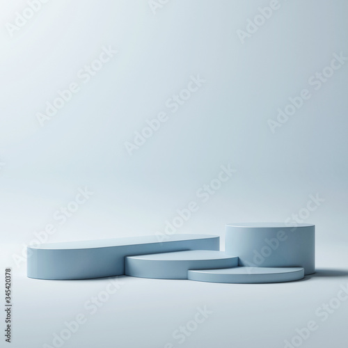 Foto Mockup podium for product presentation, winner podium, 3d render, 3d illustratio
