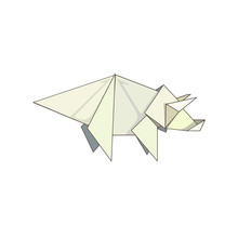 Paper Triceratops Made As Orig...