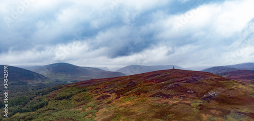Maule Monument in Scotland aerial view Canvas Print