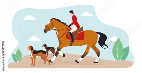 A horseback riding Wallpaper Mural
