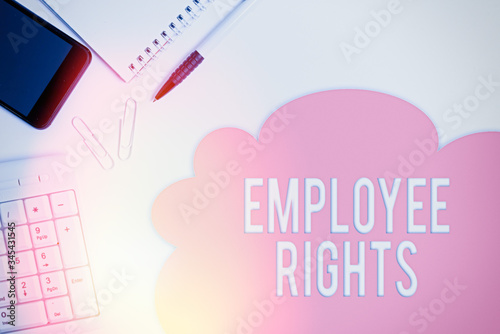 Text sign showing Employee Rights Canvas Print