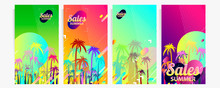 Abstract Set Summer Background...