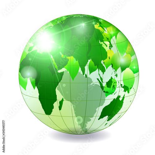 Fotografie, Obraz 地球 世界 地図 アイコン