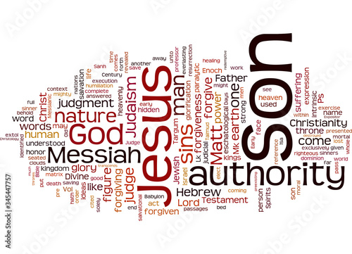 Word Cloud Summary of Jesus Autobiography Article Canvas Print
