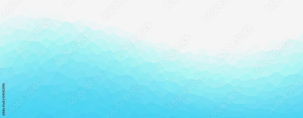 Fototapeta Geometric light blue representing water, sea, beach, waves, ripples,  etc. 水、海、ビーチ、波、波紋などを表現する幾何学的な青