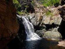 Beautiful Waterfall With Water...