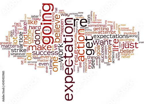 Valokuvatapetti Word Cloud Summary of How to Get Exactly What You Want Article