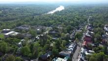 Aerial Views Backing Away From Shepherd University In Shepherdstown, West Virginia.