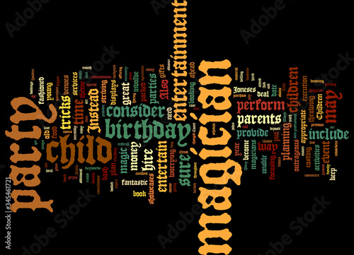 Photo Word Cloud Summary of Abracadabra A Great Birthday With A Magician Article