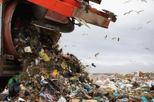 Rubbish Piled On A Landfill Fu...