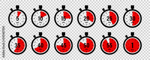 Photo Timers icon on transparent background
