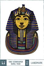 King Tutankhamun Burial Mask V...