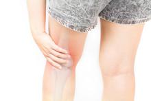 Leg Bones Pain White Background Lege Injury
