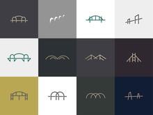Set Of Bridge Logo Design