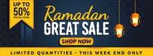 Ramadan Sale Banner Vector Graphic For Any Business