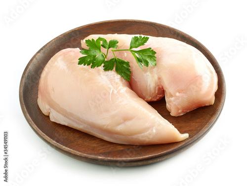 Fototapeta fresh raw chicken fillet