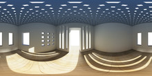 8K HDRI Map, Spherical Environment Background, Abstract High Contrast Interior Panorama Light Source (3d Equirectangular Render)
