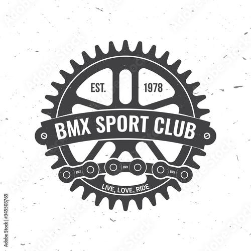 Vászonkép Bmx extreme sport club badge