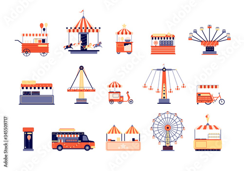 Carta da parati Amusement park icons
