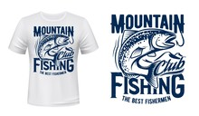 Salmon Or Trout Fish Print T-s...