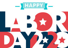 Happy Labor Day. Text Signs. V...